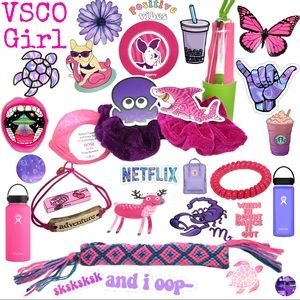 VSCO Girl Purple Pink 13 Piece Boxed Gift Set